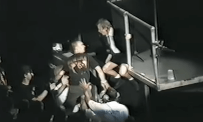 Back In Time: Idiot throws beer at Angus Young that goes mad