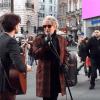 Rod Stewart with street musician