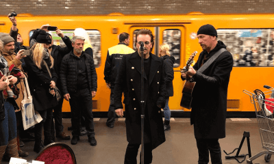 Bono Vox and The Edge in Berlin subway
