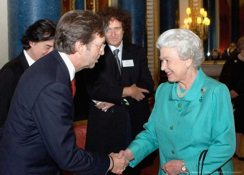 Eric Clapton and the Queen