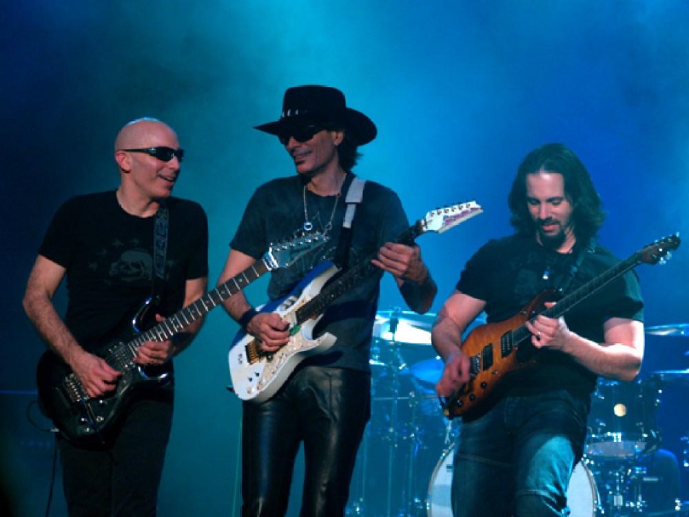 Satriani, Steve Vai, Petrucci
