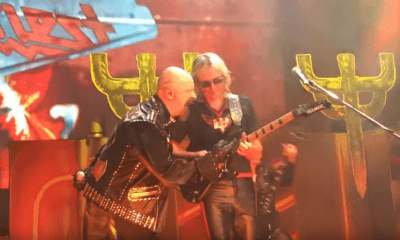 Glenn Tipton playing with Judas Priest 2018