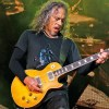 Kirk Hammett playing a Les Paul