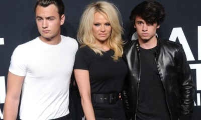 Pamela Anderson and her sons
