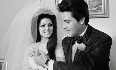 Priscila Presley and Elvis Presley