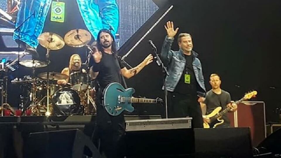 Dave Grohl and John Travolta
