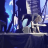 Dave Grohl falling onstage