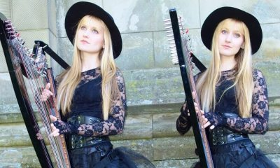 The Harp Twins playing Sound Of Silence