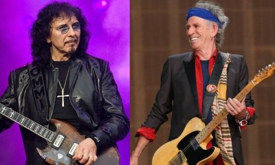 Tony Iommi and Keith Richards