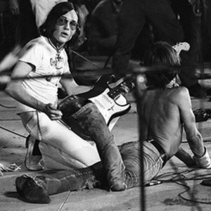 Ron Asheton with Iggy Pop