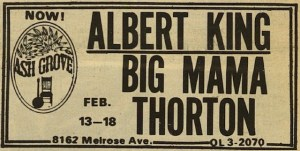 Ash Grove Poster For Albert King