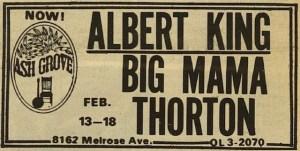 Ash Grove Poster For Albert King