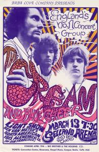 Cream and Blue Cheer Poster