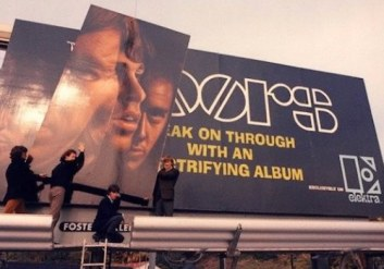 Doors Billboard on Sunset Strip