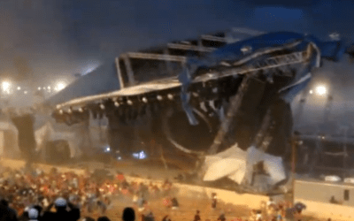 Indiana State Fairgrounds Roof Collapse Just Before Concert