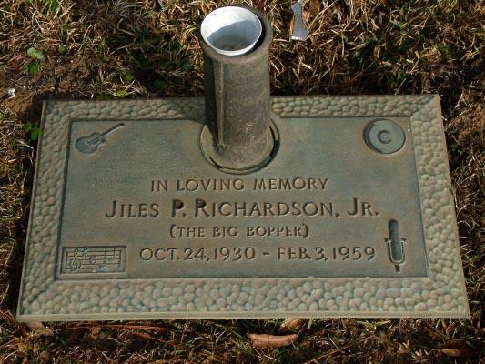 J. P. Big Bopper Richardson Grave Stone