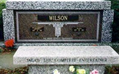 Buried Here –  Jackie Wilson He Had Over Two Dozen Top 40 Singles
