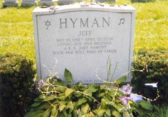 "Buried Here – Joey Ramone, Lead Singer For ""The Ramones."""
