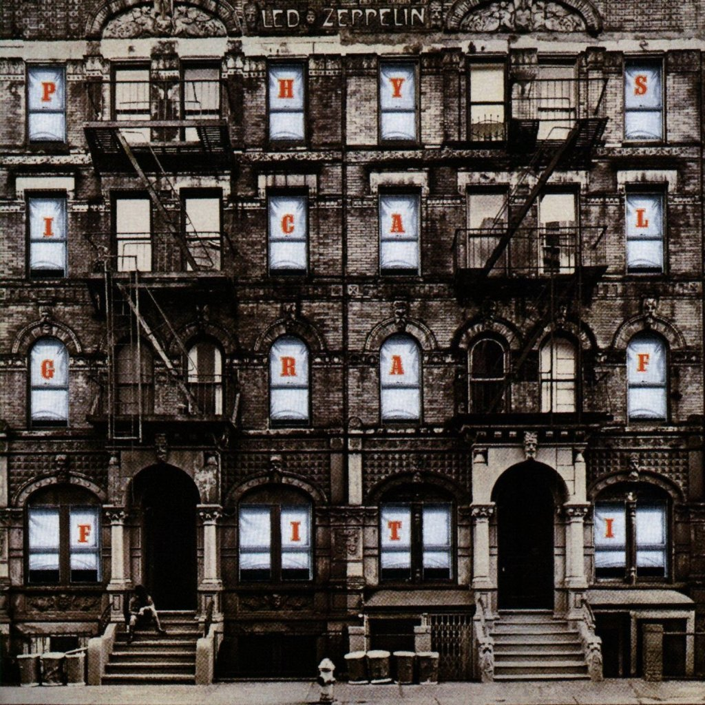 physical graffiti by led zeppelin album cover location
