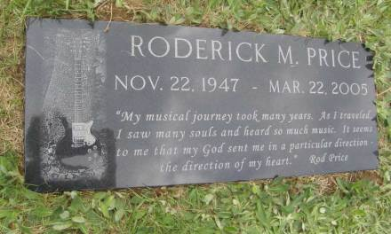Buried here – Rod Price, Founding Member & Guitar Player For Foghat