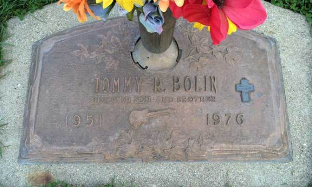 Buried Here – Tommy Bolin, Guitar Player In The James Gang and Deep Purple
