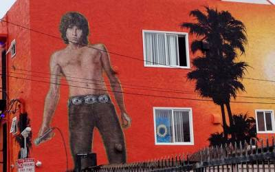 """Morning Shot"" , The Jim Morrison Mural In Venice Beach, California"
