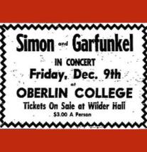 Ad for Simon and Garfunkel concert at Oberlin