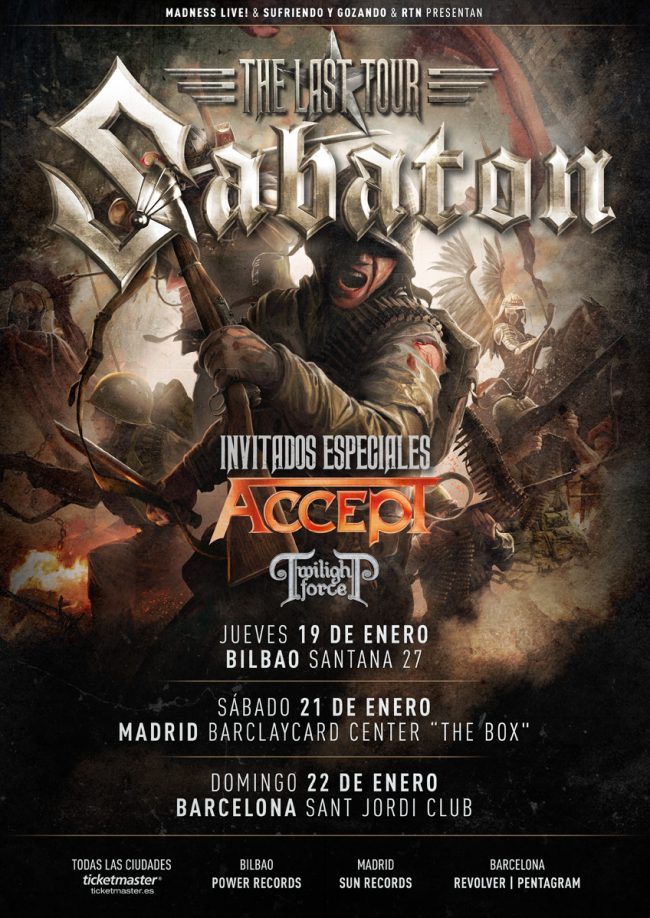SABATON + ACCEPT - En concierto