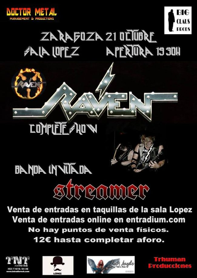 RAVEN – Concierto en Zaragoza