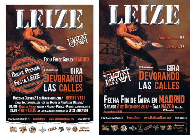 LEIZE - Fin de gira en Madrid