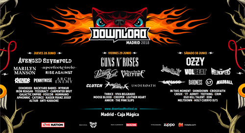 DOWNLOAD FESTIVAL MADRID 2018 cierra cartel