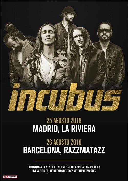INCUBUS - Gira española 2018