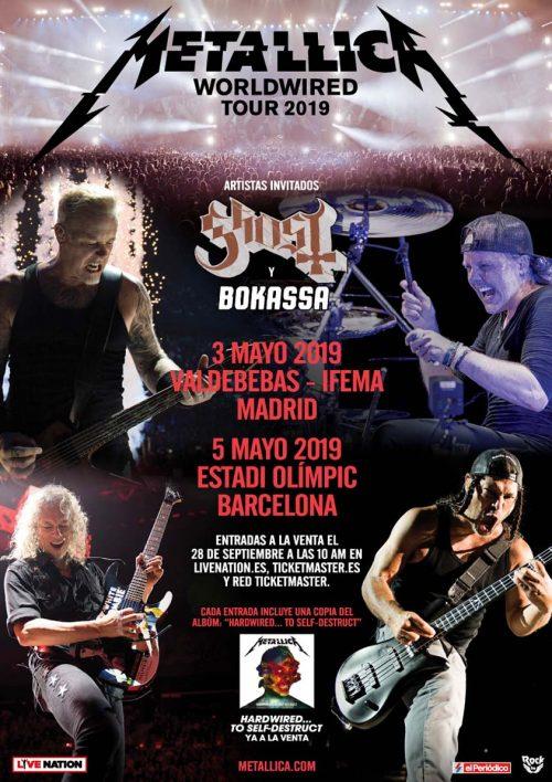 METALLICA – Gira española 2019