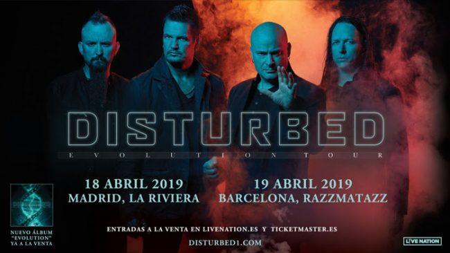 DISTURBED presentará su nuevo disco en Madrid y Barcelona