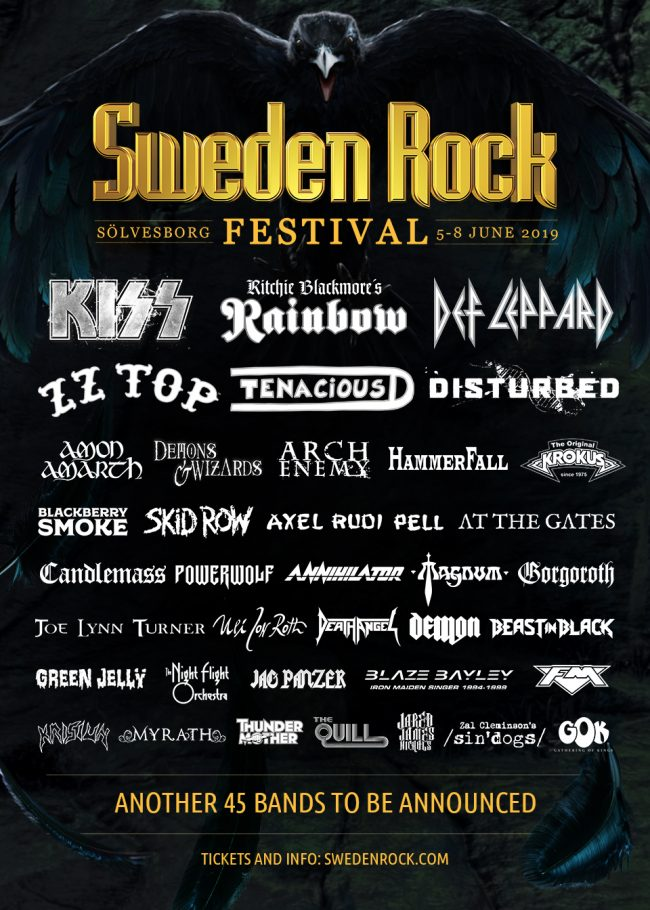 SWEDEN ROCK FESTIVAL 2019 añade 20 nuevas incorporaciones