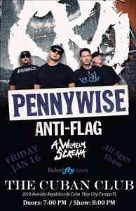 Pennywise, Anti-Flag, and A Wilhelm Scream-The Cuban Club-Jan. 16, 2015