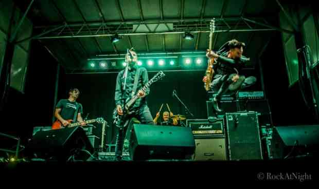 Chris Head, Justin Sane, Pat Thetic, and Chris Barker of Anti-Flag
