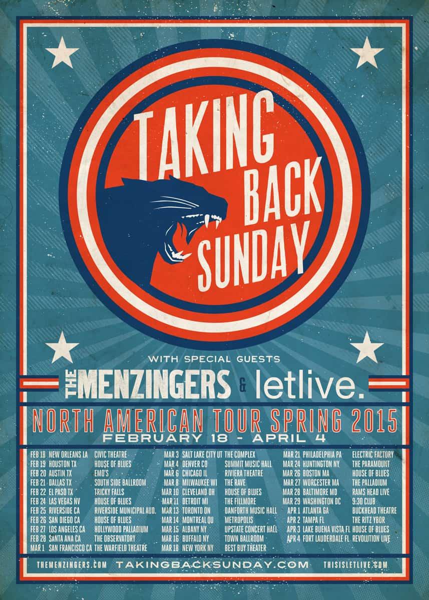 Taking-Back-Sunday-Menzingers Poster
