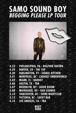 Samo Sound Boy Tour