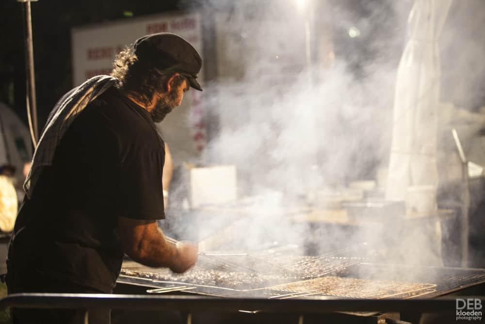 Cooking satays