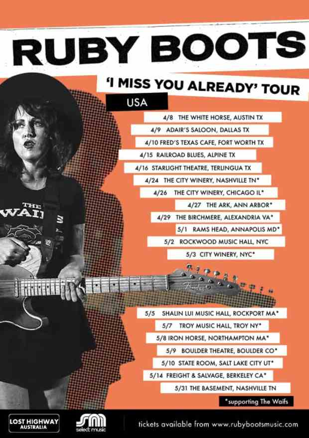 Ruby Boots US Tour