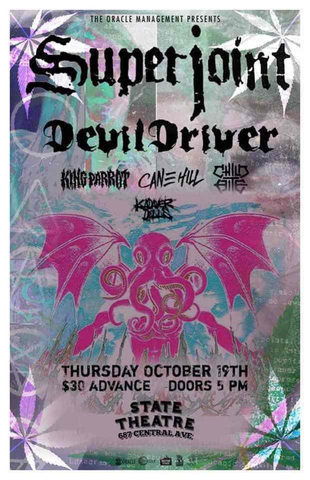 Metal Mayhem with Superjoint, DevilDriver, King Parrot, Cane