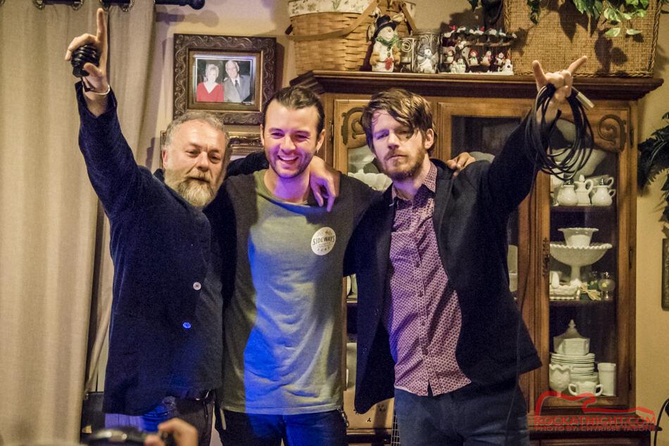 Keith Harkin, Vezzio Bacci, and Peter Sheridan