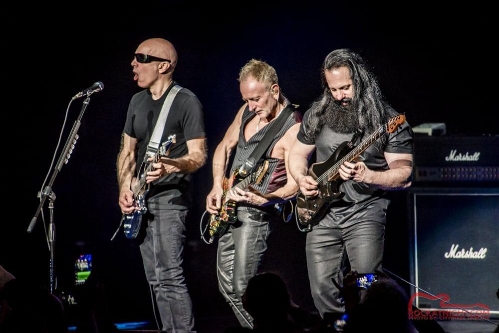 Joe Satriani, Phil Collen, and John Petrucci