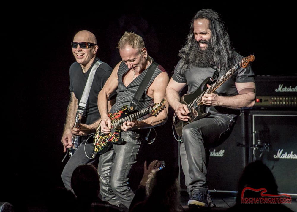 Joe Satriani, Phil Collen, and John Petrucci