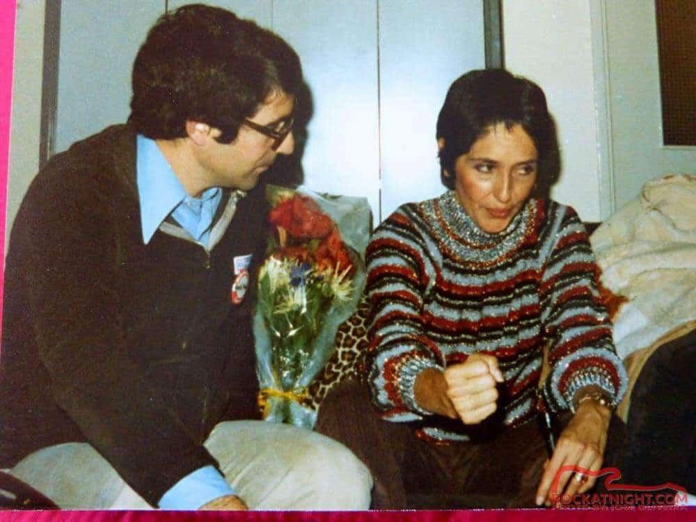 With JOAN BAEZ  – A big Woodstock name!