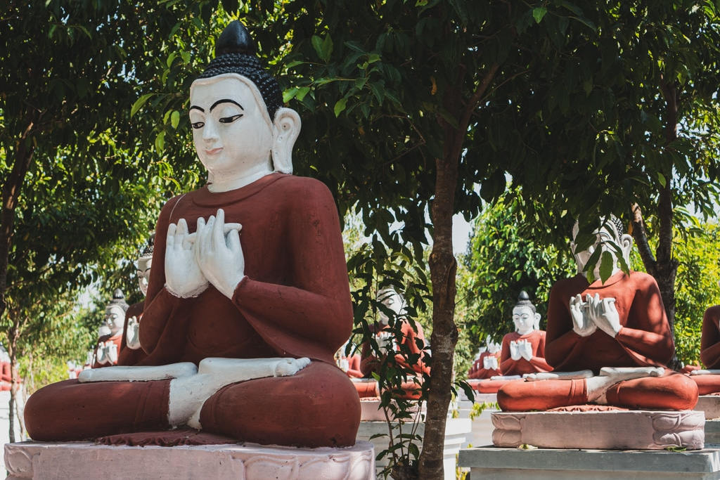 Bouddhas, Dala, Myanmar