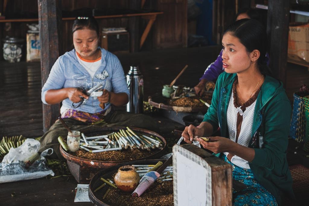 Fabrique à cigares, Myanmar