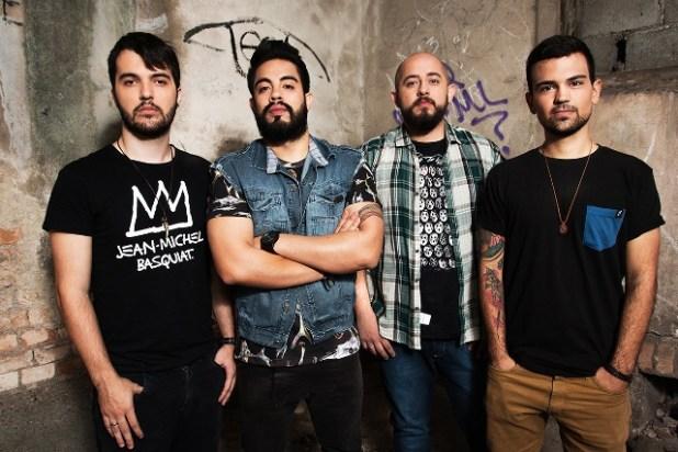 Mirant (Esq p/ Dir): Renato de Freitas - Baixo, Sérgio Virissimo - Vocal, André Poeta, - bateria e Cauê Oliveira - Guitarra / Foto: Rafael Amaro