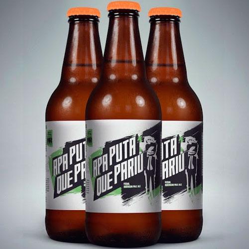 APA Puta Que Pariu (Estilo: American Pale Ale / ABV: 5,5% / Cervejaria: Aqueles Caras / País: Brasil)